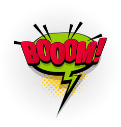 Boom bang wow comic book text pop art vector