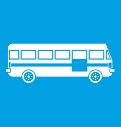 Bus icon white vector