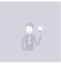 businessman and light bulb idea conceptcreativity vector image