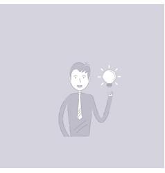 Businessman and light bulb idea conceptcreativity vector