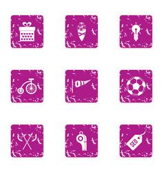 Calisthenics icons set grunge style vector