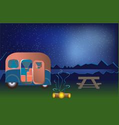 Cartoon outdoor camping vector