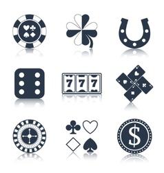 Casino black design elements vector image