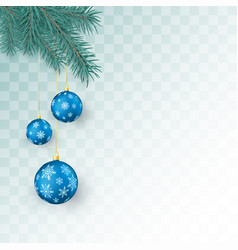 christmas decoration elements isolated vector image