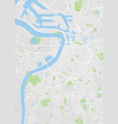 City map antwerp color detailed plan vector