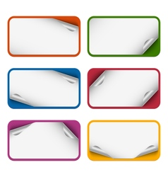 Collection of colorful design stickers vector image