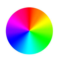 color wheel palette rgb ryb cymk system color vector image