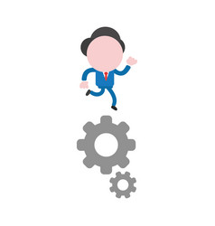 concept of faceless businessman character running vector image