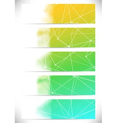 Connection structure cards collection lines vector