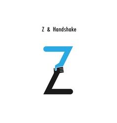 Creative Z- letter icon abstract logo design vector image vector image