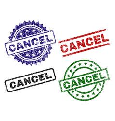 Damaged textured cancel stamp seals vector