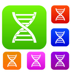 dna set collection vector image