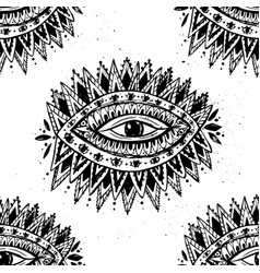 Eye hand drawn mystical vector