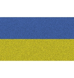 Flags ukraine on denim texture vector