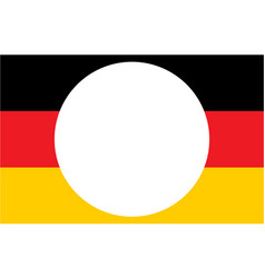 German flag with copy space for text vector