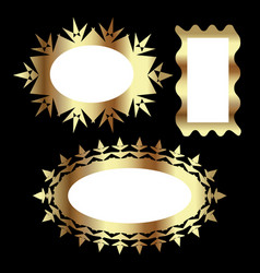 gold frame design set vector image