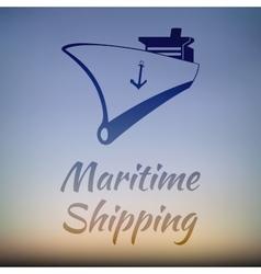 Graphic Design for Ship Cargo Companies vector image