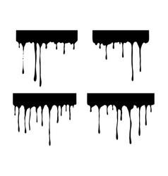 hand drawn paint splatter melt liquid leak ink vector image