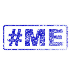 Hashtag me rubber stamp vector