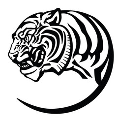 Head tiger tattoo vector