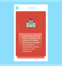 hospital mobile vertical banner design design vector image