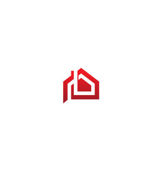 house roof business realty logo vector image