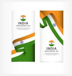 India independence day celebration banner set vector