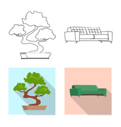 Isolated object of furniture and work logo vector