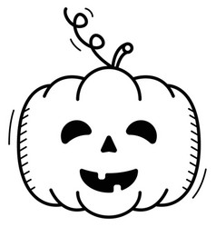 jack head in linear style icon for halloween vector image