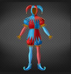 joker motley empty costume 3d realistic vector image