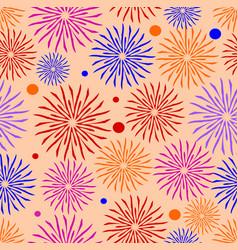 joyful textile patterns on coral background vector image