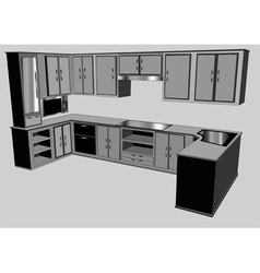 Kitchen counter vector