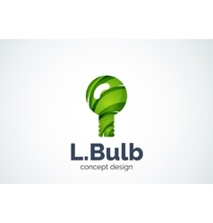 Light bulb logo template new idea energy or vector image