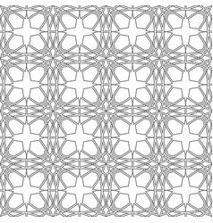 linear geometrical mosaic pattern seamless vector image