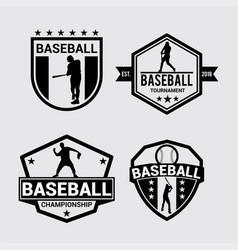 logo badges baseball 2 vector image