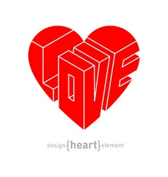 Love in heart original design element vector image