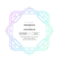 Luxury wedding invitation with mandala vector