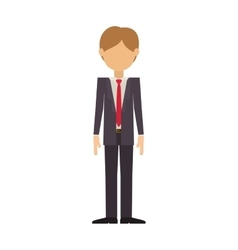 man wearing elegant suit without face vector image