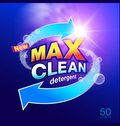 Max clean laundry detergent design vector