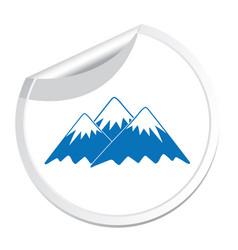 mountain icon concept vector image