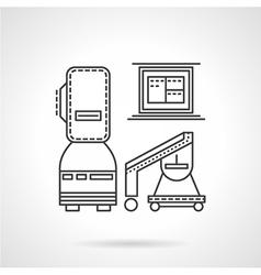 MRI equipment line icon vector image