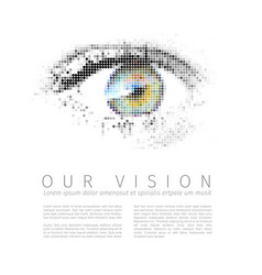 our vision template vector image