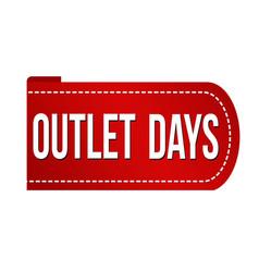 outlet days banner design vector image