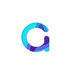 realistic paper cut letter g vector image