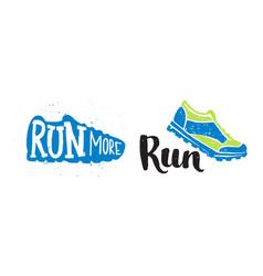 Running marathon logo jogging emblems label and vector