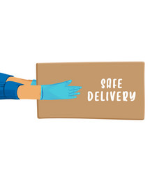 Safe delivery cartoon banner for save vector