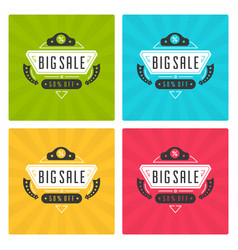 Sale banners or labels design set vector