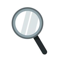 School magnifying glass cartoon vector