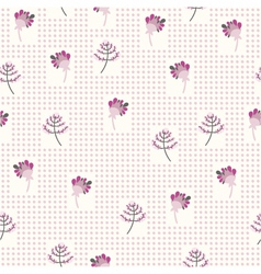 Seamless pattern with the gentle flowers vector