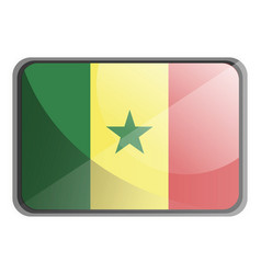 senegal flag on white background vector image